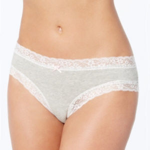Jennifer Moore Cotton Cheeky Lace-Trim Hipster